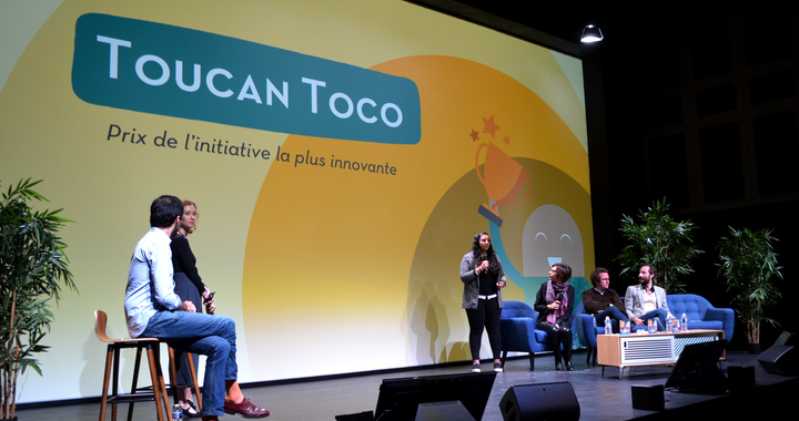 C'est TOUCAN TOCO, entreprise de Data Visualization, qui remporte ce trophée avec un projet qui redonne à chacun la main pour agir en mettant la diversité au cœur de l'entreprise grâce à l'art.